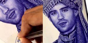 व्हायरल व्हिडिओ f मध्ये कलाकाराने जैन मलिकला भारतीय वराच्या रूपात काढले