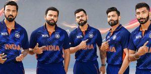भारताने क्रिकेट विश्वचषक 2021 साठी किटचे अनावरण केले f