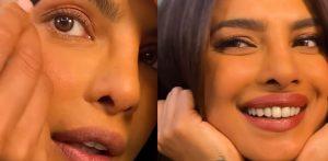 प्रियांका चोप्रा जोनास डे टू नाईट मेकअप लुक शेअर करत आहे