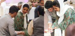 Priyanka Chopra and Nick Jonas perform Puja Together